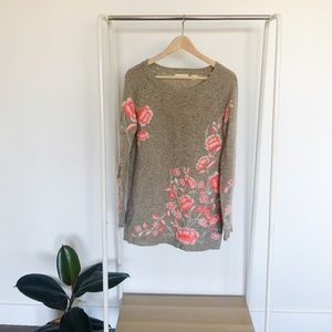 Sleeping On Snow Anthropologie Floral Sweater